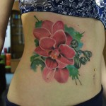 Belly Bright Flowers tattoo