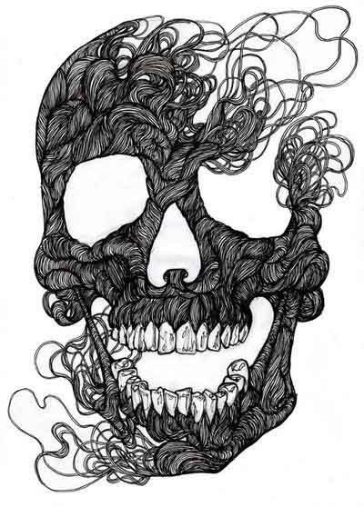 Black&White Yarn Scull