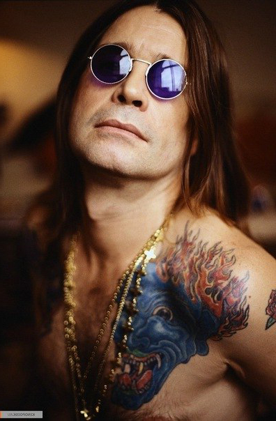Cloloured Imp Ozzy Osbourne tattoo