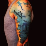 Deep Waters Mystery Lost city tattoo