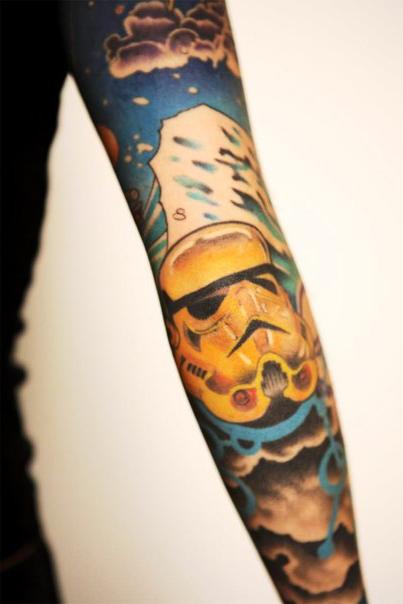 Elbow Empire Trooper Star Wars tattoo