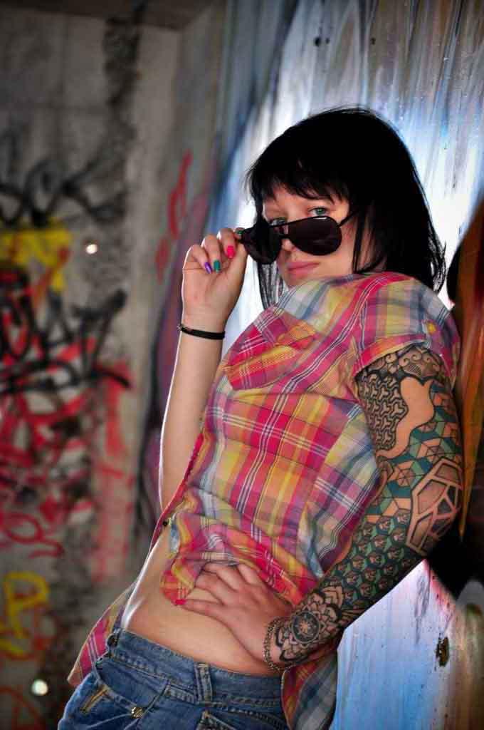 Elbow crystals tattoo