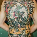 Full Back Cavalryman traditional tattoo