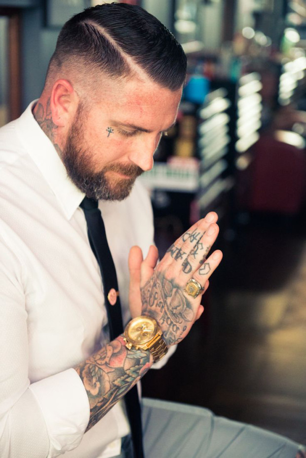 Hand rose tattoo picture for men