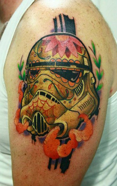 Smoky Trooper Muerte Star Wars tattoo