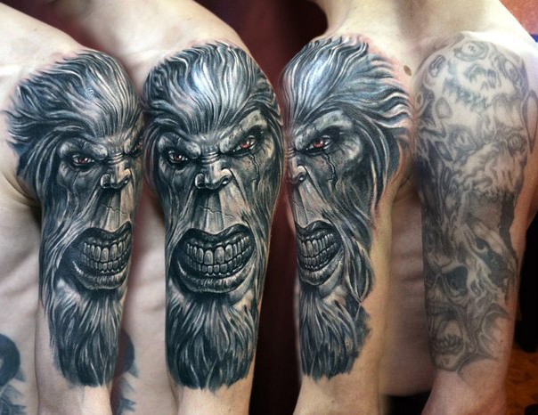 Angry Ape Cover Up tattoo design