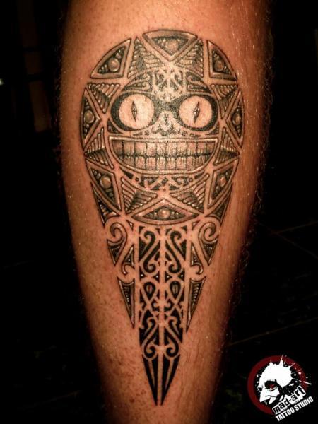 Aztec Cat Smile tattoo by Mad-art Tattoo