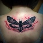 Back Moth Trash Polka tattoo