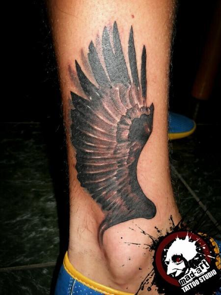 Black Wing tattoo by Mad-art Tattoo