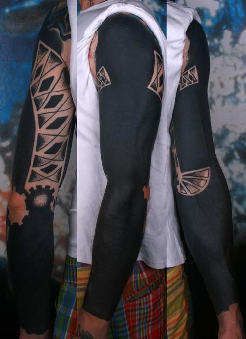 Cogwheels Blackwork tattoo sleeve