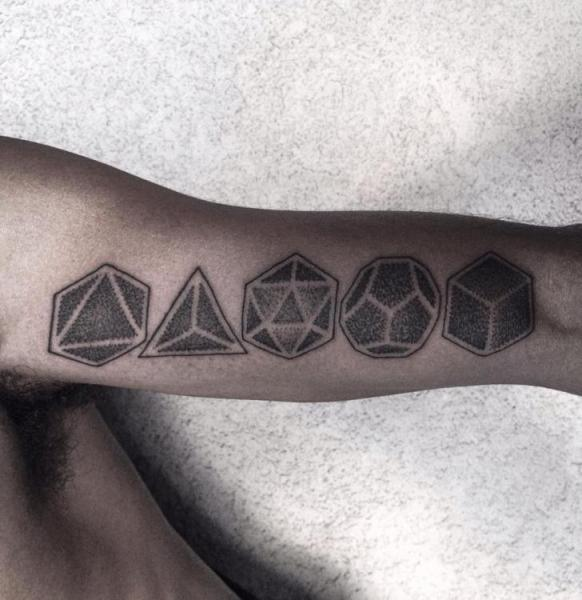 Complexity Geometry Dotwork tattoo by Corey Divine