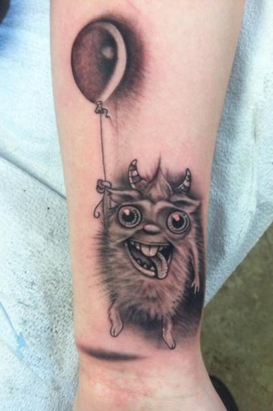 Crazy Furry With Baloon tattoo by Johnny Smith Art