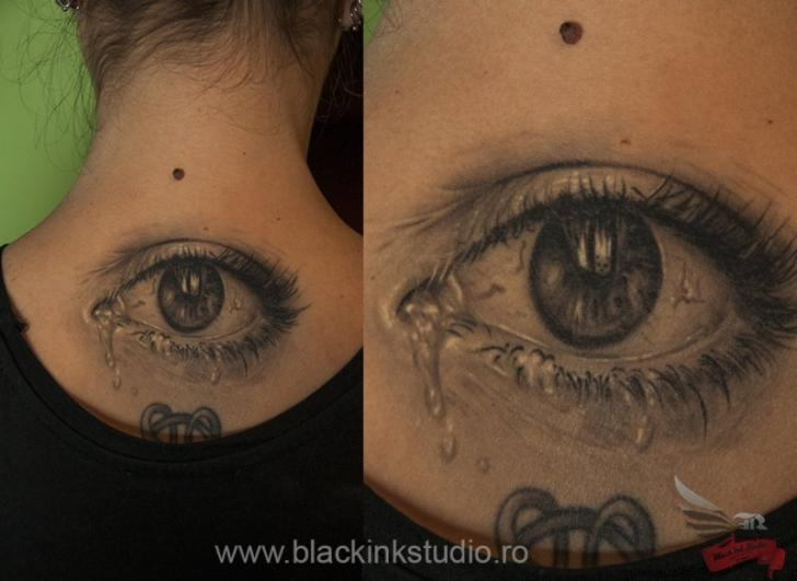 Crying Eye Realistic tattoo by Black Ink Studio