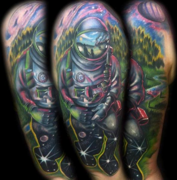 Deep Space Astronaut tattoo by Johnny Smith Art