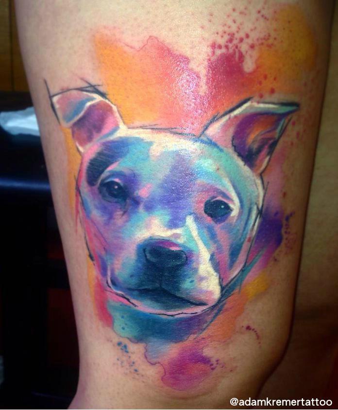 Doggy Aquarelle tattoo