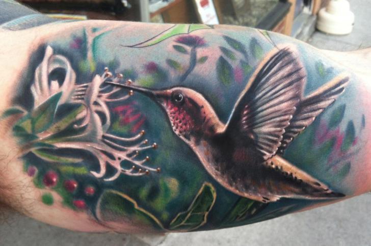 Eating Colibri tattoo