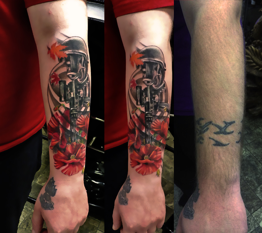 Fallen Soldier Cover Up tattoo design