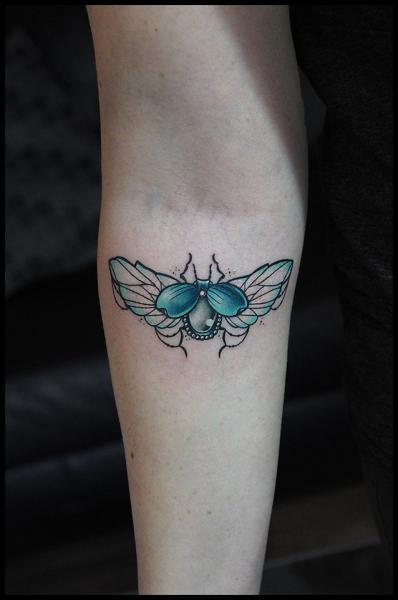Gem Bug tattoo by White Rabbit Tattoo