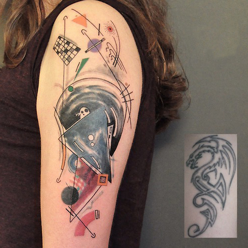 Geometry Abstraction Cover Up tattoo design
