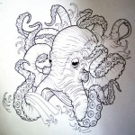 Octopus tattoo sketch