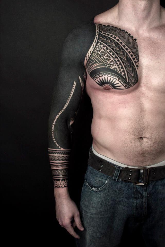 One Awesome Blackwork tattoo Sleeve