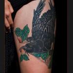Peach Tree Crow tattoo by Chapel tattoo
