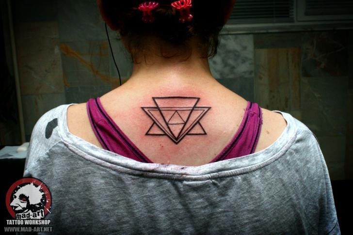 Several Line Triangles tattoo by Mad-art Tattoo