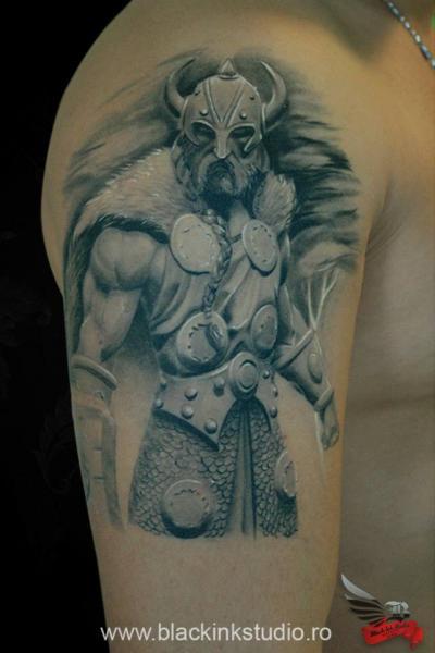 Viking Warrior Realistic tattoo