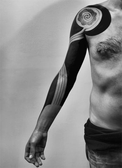 Whirlpool Blackwork tattoo Sleeve