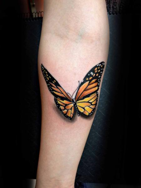 Arm Butterfly tattoo by Resul Odabaş