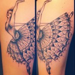 Ballerina Baroque tattoo by Sarah B Bolen