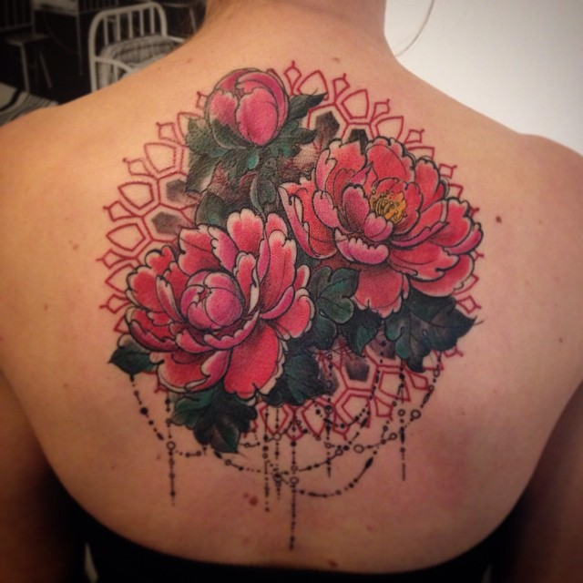 Baroque Elements Flowers tattoo by Aygul Bayanova