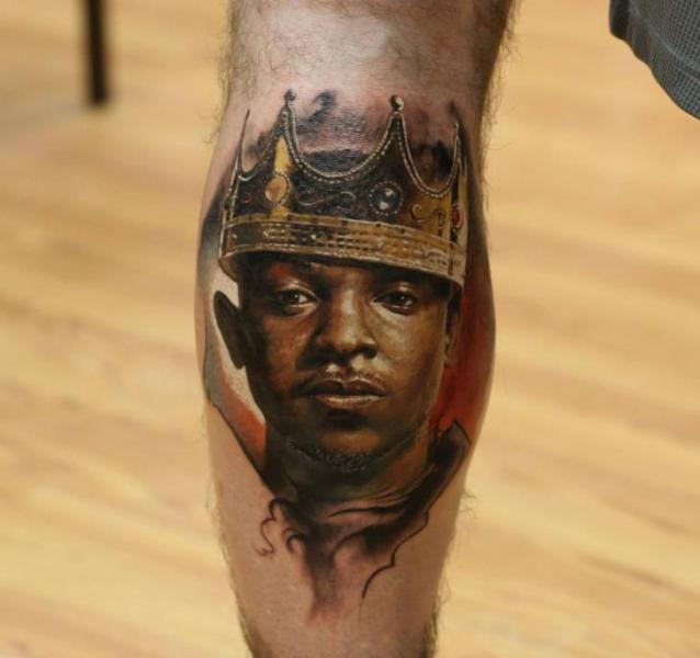 Black King tattoo by Bloodlines Gallery