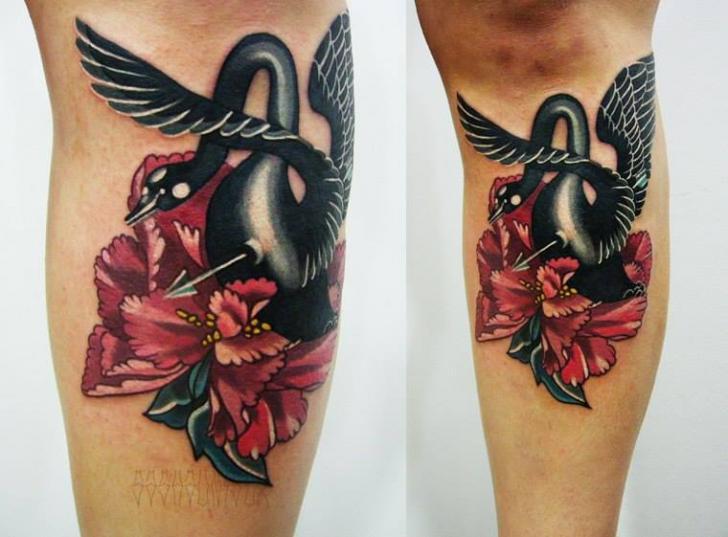Black Swan tattoo by Sasha Unisex
