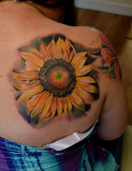Blade Sunflower tattoo by Piranha Tattoo Supplies