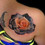 Blade White Rose tattoo by Andres Acosta