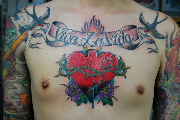 Burning Heart Viva la Vida tattoo by Illsynapse
