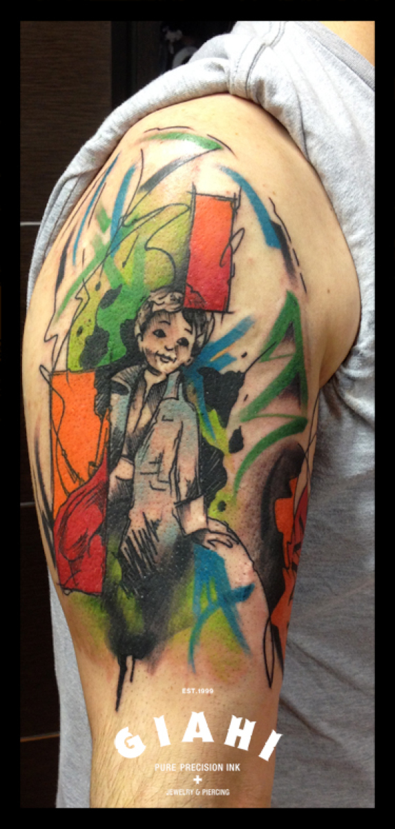 Coat Kid tattoo by Live Two
