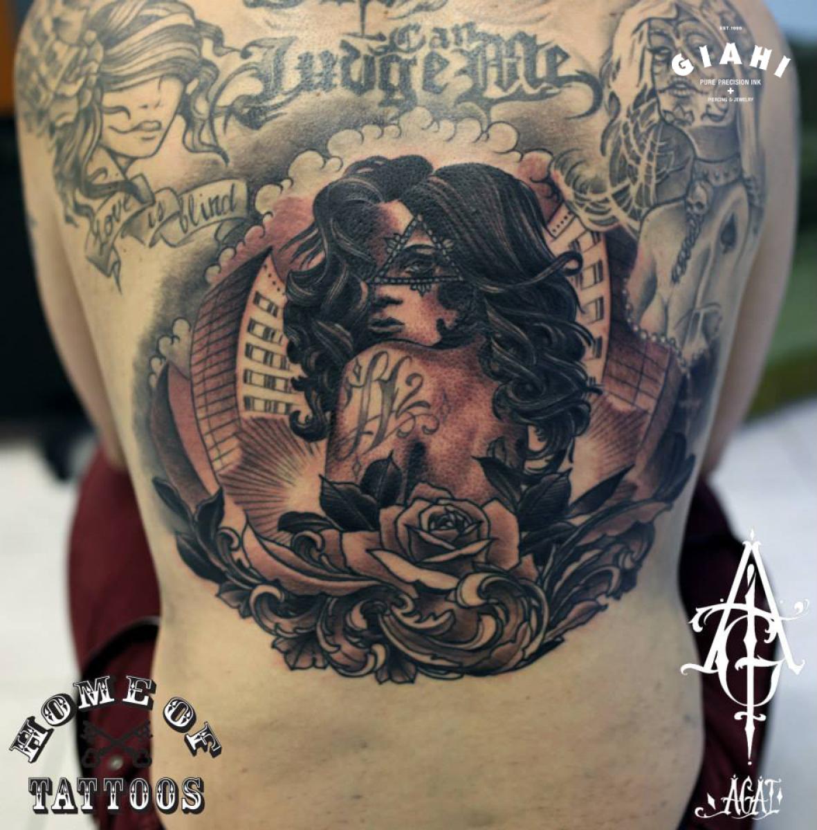 Eye of Providence Girl tattoo by Agat Artemji
