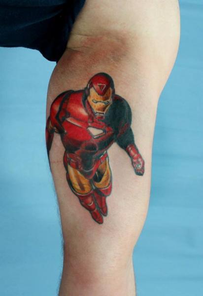 Flying Iron Man tattoo by Skin Deep Art