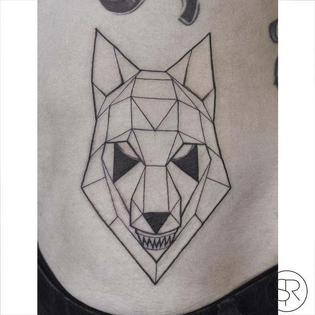 Geometry Wolf tattoo by Sven Rayen
