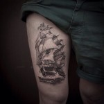 30 Cool Sailing Ship Tattoos