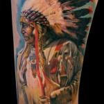 Indian Old Man Realistic tattoo by Piranha Tattoo Supplies