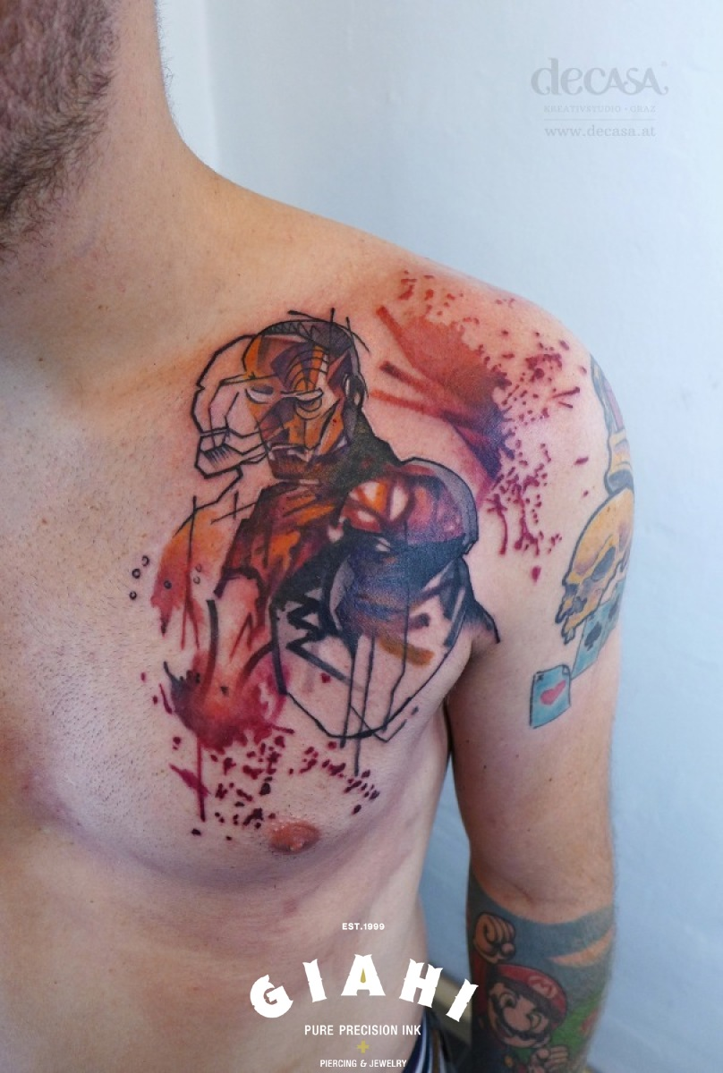 Iron Man tattoo by Carola Deutsch
