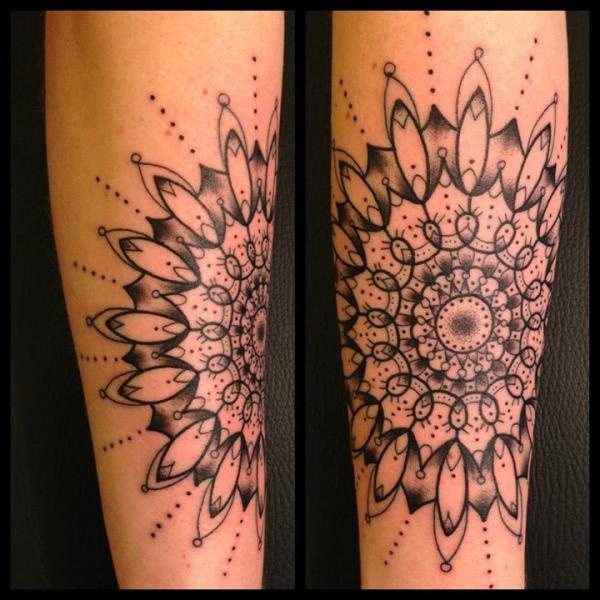 Loops Mandala tattoo by Sarah B Bolen