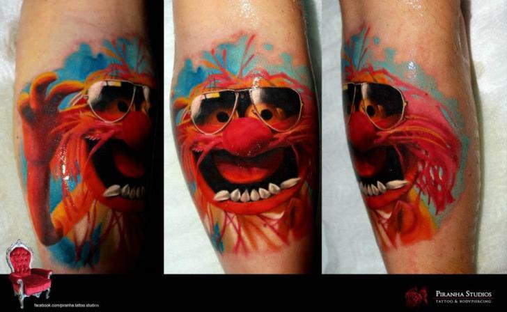 Mappet Show tattoo by Piranha Tattoo Supplies