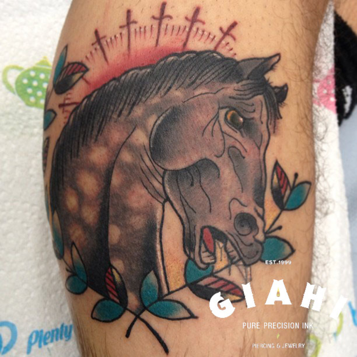 Neighing Horse tattoo by Elda Bernardes