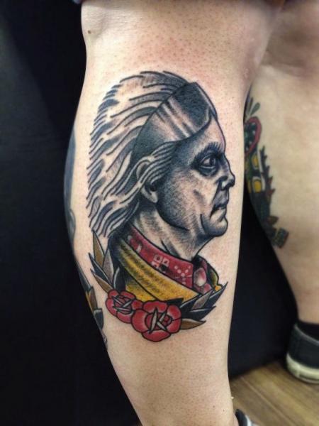 Old School Indian tattoo by Matt Cooley