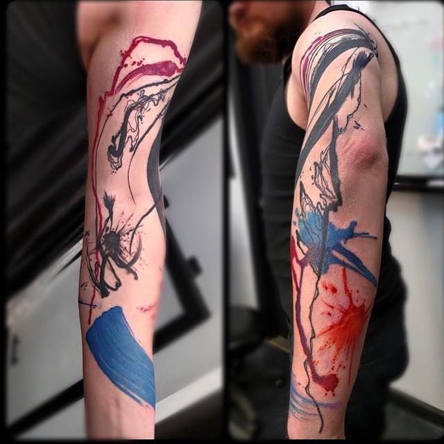 Paint Splashes Aquarelle tattoo by Becca Tozer