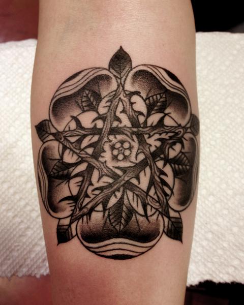 Pentagram Dotwork tattoo by Three Kings Tattoo
